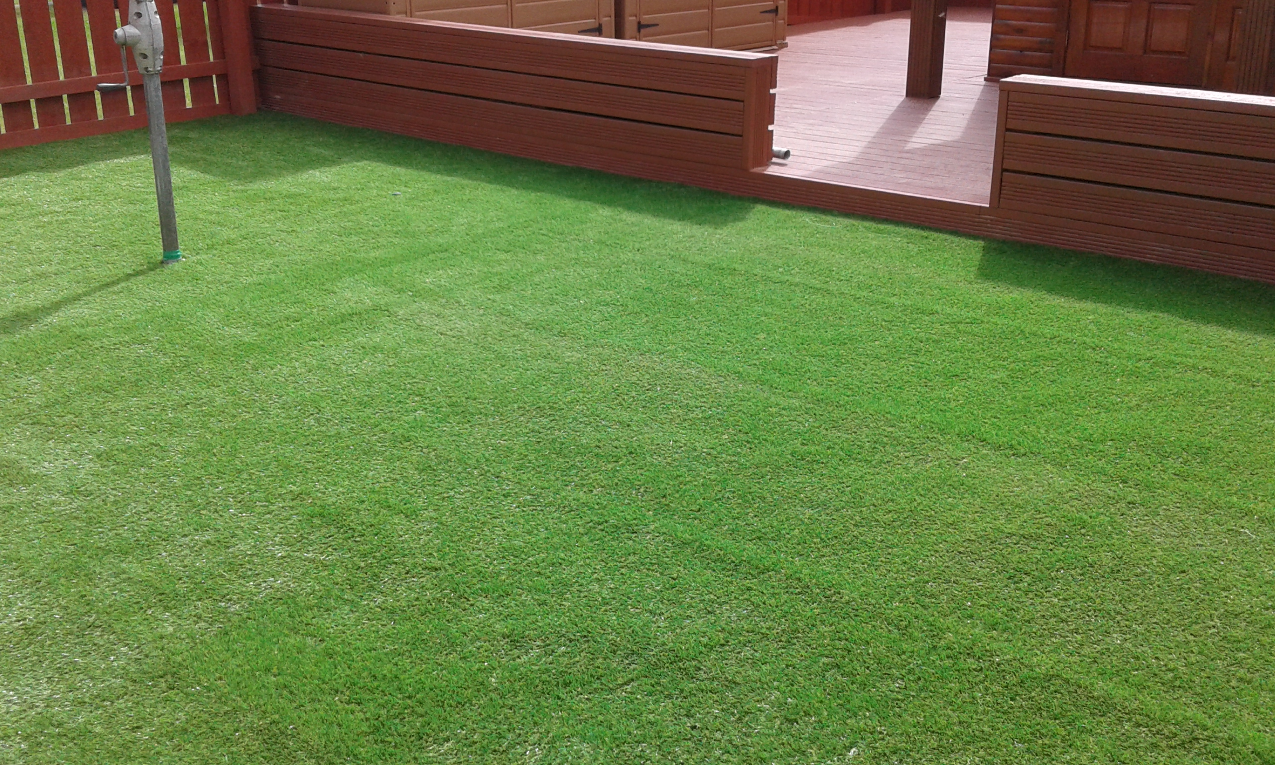 Final results with Verdi artificial lawn.
